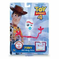 "Disney Pixar Toy Story 4 FORKY 8"" Pull & Go Figure 2019 NEW w/ Whacky Action!"