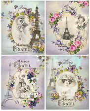 VinTaGe IMaGe AsSoRTeD PaRis ViCToRiaN WoMeN LaBeLs ShaBby WaTerSLiDe DeCALs