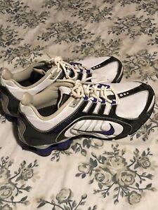 Nike Shox Navina Womens Silver VTG Athletic Running Shoes (356918-160) Size 10