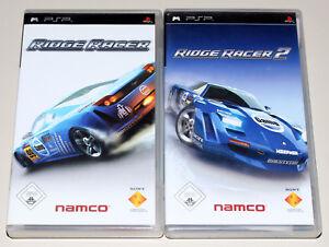 2 PSP SPIELE BUNDLE - RIDGE RACER 1 & 2 - MIT HANDBUCH - PLAYSTATION PORTABLE