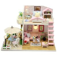 Toys for Children Miniature Diy Puzzle Toy Doll House Model Wooden Furnitur G9L4