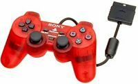 Used PS2 Sony Playstation 2 DUALSHOCK2 Crimson Red Controller 3  Japan Import
