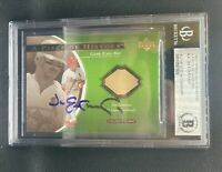 2001 Upper Deck Ovation Signed Jim Edmonds A Piece of History GU Bat BAS Slabbed