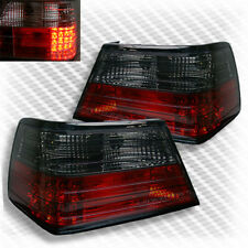 For 86-95 Mercedes Benz W124 E Class LED Red Smoke Tail Lights Rear Brake Lamp