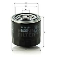 Mann W811/80 Oil Filter Spin On 75mm Height 80mm Outer Diameter Service