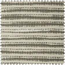 10 Metre Of Striped Pattern Cream Grey Colour Quality Chenille Upholstery Fabric