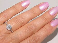 Authentic Tiffany & Co PLATINUM Cushion .49Ct Diamond Engagement LEGACY Ring S 8