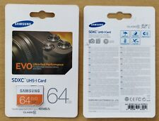Samsung EVO 64GB SD Card CID Changeable new Made in Korea, MB-SP64D/EU