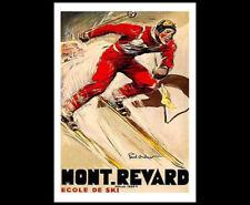 Skiing MONT REVARD France Alps 1930s Art Deco POSTER by Paul Ordner Reprint