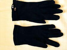 Vintage Ladies Gloves- Navy w/Buttons- Crescendoe- sz. 6 1/2- 1960