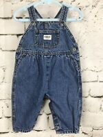 Oshkosh Vintage Baby Girl Cotton Denim Bubble Fit Vestbak Overalls. 6-9 M USA