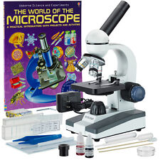 AmScope 40X-1000X Student LED Microscope with Slide Preparation Kit and Book