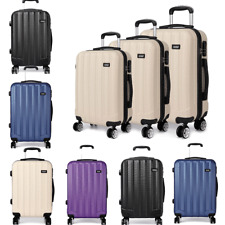 Hard Shell Cabin Suitcase Travel Luggage Trolley Case Lightweight  Spinner