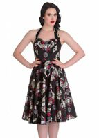 NEW! BLACK APACHE ROSES AND SKULL FEATHERS DRESS XS S M L XL SIOUX TEXAS TEA