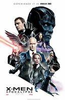 X-Men Apocalypse movie poster (e) James McAvoy, Michael Fassbender