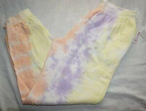NWT Women's Pastel Tie Dye DARI Lounge Joggers Sweats Sweatpants Sz L