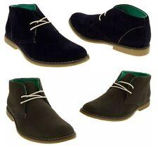 Faux Suede Lace Up Boots for Men