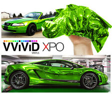 Vvivid 1ft x 5ft SuperCast Chrome Green vinyl vehicle wrapping decal