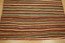 Circa 1920s ANTIQUE VEGETABLE DYE  PERSIAN JAJIM KILIM RUG 4.8x6.10 FLAT WOVEN