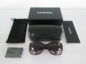 AUTHENTIC CHANEL WOMEN'S SUNGLASSES 5226-H RED WITH BOX DUST CLOTH BAG & CASE