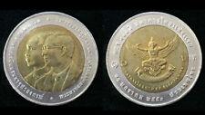 THAILAND 10 BAHT 100th 1st COMMERCIAL BANK GARUDA 2007 BI-METALLIC COIN UNC