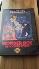 Original Cover Art and Box- Wonder Boy In Monster World- Sega Genesis Authentic