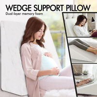 Extra Large Bed Wedge Memory Foam Pillow with Removable Cover