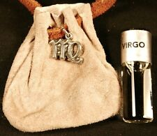 Zodiac essence medicine bag- Virgo (beige suede)