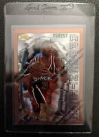 1996 TOPPS FINEST W/C #69 ALLEN IVERSON ROOKIE CARD RC SIXERS HOF