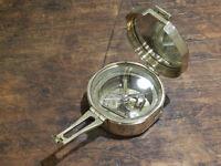 Large brass sighting Compass