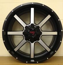 "22 ""TUFF & Nero Smalto RUOTE,5 / 139/150 DODGE RAM, TOYOTA Amazon 5/150, altri"