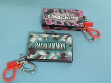 Basic Fun 2000 Backgammon & 2000 Checkers Mini Game Key Chains