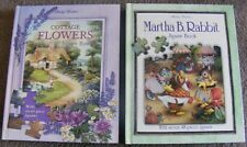 Shirley Barber's  JIGSAW  STORY BOOKS x2 ~ MARTHA B RABBIT + COTTAGE FLOWERS H/C