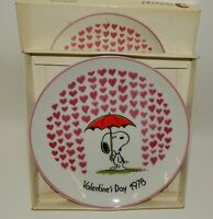 Vintage Schmid Peanuts Snoopy 1978 Valentine's Day 2nd Edition w/ Box