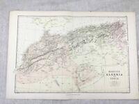 1882 Mappa Antica Di Marocco Algeria Tunisi Vecchio Originale 19th Secolo