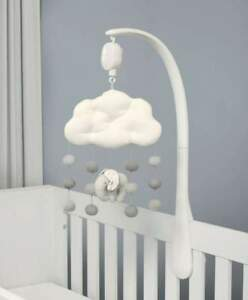 Mamas & Papas - Welcome To The World Musical Mobile - Grey Elephant