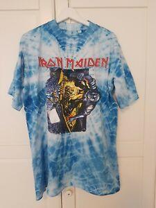 Iron Maiden - No Prayer For The Dying T-Shirt Light Blue - Vintage Rarität ?!?