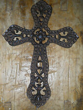 Cast Iron Victorian Style RELIGIOUS CROSS  Rustic Ranch Western Decor #3