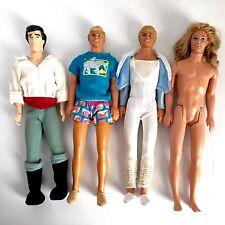 Lot of 4 Barbie Ken Doll Long Rooted Hair Blue Eyes Gaston OOAK