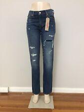 nwt Levis 511 Dark Wash Torn Distressed Blue Jeans men 30x32 Skinny Slim new 779