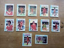 Liverpool X 12 Topps Football Cards 1979 - Blue Backs