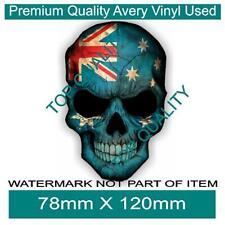 AUSSIE SKULL FLAG DECAL STICKER PATRIOTIC AUSTRALIANA AUSSIE DECALS STICKERS