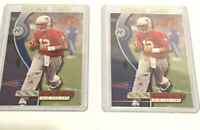 2 Cards 2000 Playoff Absolute #195 Tom Brady New England Patriots RC Rookie 3000