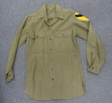 WW2 1ST CAVALRY UNIFORM SHIRT - BEAUTIFUL CROSS STITCHED OD BORDER PATCH #U129