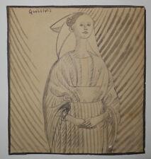 """QUILLIVIC René """"La fiancée du pêcheur d'ISLANDE"""". DESSIN ORIGINAL & 1 GRAVURE"""