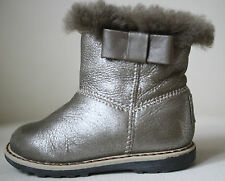 BABY DIOR SHEARLING FUR LINED ANKLE BOOTS EU 20 UK 4