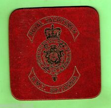 #D115.   LEATHER H.M.Y. BRITANNIA DRINK COASTER DURING 1963 ROYAL TOUR