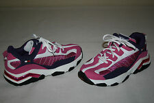 Tommy Hilfiger Girls Sz 2.5 Medium Pink Purple White Leather Athletic Shoes NEW