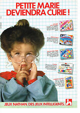 PUBLICITE ADVERTISING 034   1983   NATHAN   jeux jouets