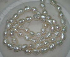 Natural white 2 Strands 12*15mm luster baroque freshwater pearls Loose Bead 15""